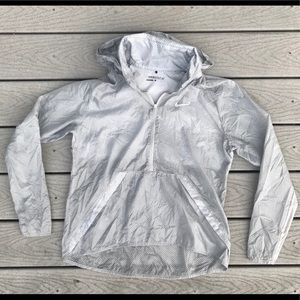 Nike Golf Hyperlite Jacket L Gray Hooded Half Zip